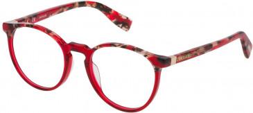 Trussardi VTR235 glasses in Pattern Black Yellow Red