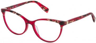 Trussardi VTR234 glasses in Pattern Black Yellow Red