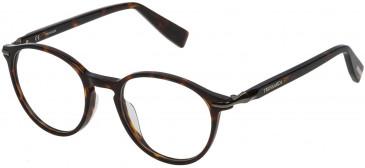 Trussardi VTR192 glasses in Shiny Striped Brown