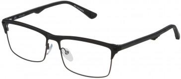 Police VPL483 glasses in Matt Gun Metal/Shiny Black