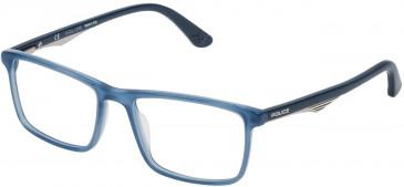 Police VPL467 glasses in Shiny Opal Blue