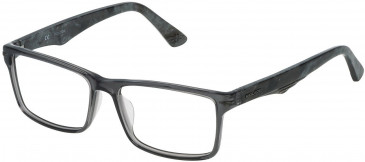 Police VPL391 glasses in Shiny Transparent Grey