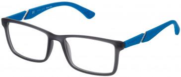 Police VPL389 glasses in Grey/Rubberizedized Paint