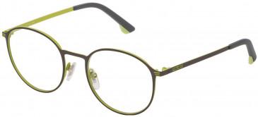 Police VK554 glasses in Matt Gun Metal/Yellow