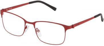 Police VK542 glasses in Rubberized Full Red