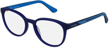 Police VK081 glasses in Matt Opal Blue