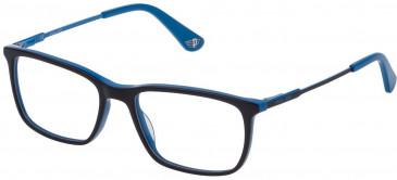 Police VK073 glasses in Shiny Blue Top/Azure