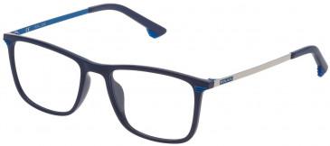 Police VK065 glasses in Matt Full Red/Matt Black