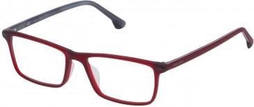 Police VK061 glasses in Matt Transparent Bordeaux Red