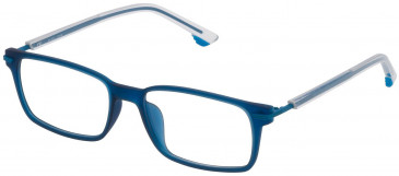 Police VK060 glasses in Matt Transparent Blue