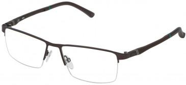 Fila VF9790 glasses in Matt Antique Brown