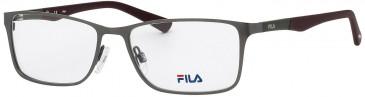 Fila VF9733 glasses in Rubberized Black