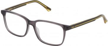 Fila VF9321 glasses in Shiny Transparent Grey