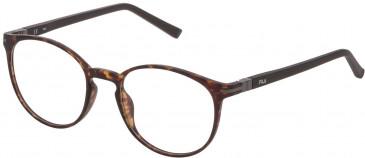 Fila VF9276 glasses in Matt Transparent Blue