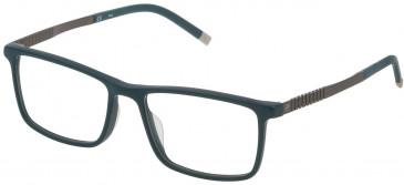 Fila VF9242 glasses in Matt Petroleum