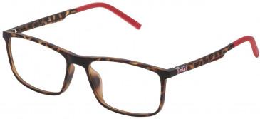 Fila VF9191 glasses in Matt Dark Havana