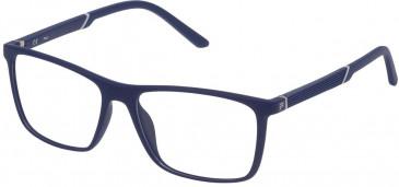 Fila VF9173 glasses in Matt Full Blue