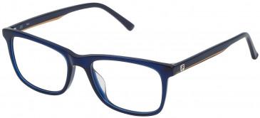 Fila VF9116 glasses in Shiny Transparent Blue