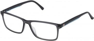 Fila VF9115 glasses in Shiny Transparent Grey