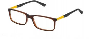 Fila VF9100 glasses in Shiny Transparent Brick