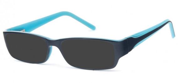 SFE-10578 sunglasses in Black/Blue