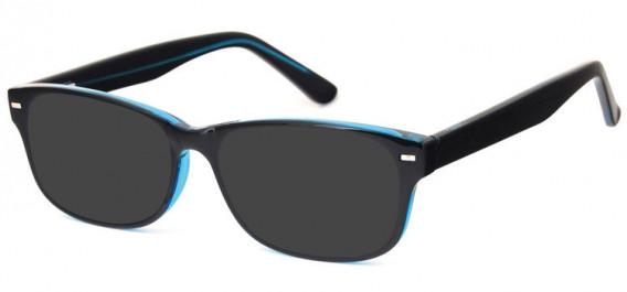 SFE-10577 sunglasses in Black/Blue