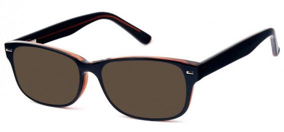 SFE-10577 sunglasses in Black/Brown