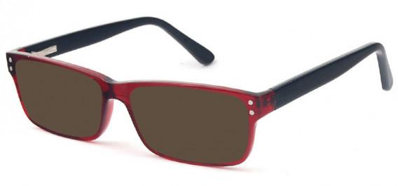 SFE-10575 sunglasses in Burgundy/Black