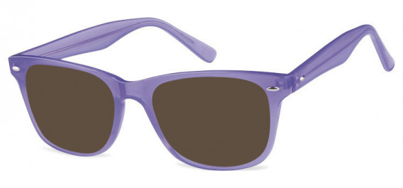 SFE-10573 sunglasses in Clear Purple
