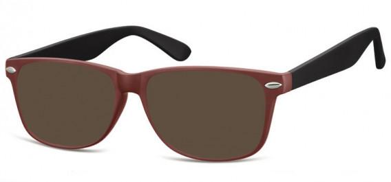 SFE-10569 sunglasses in Matt Burgundy/Black