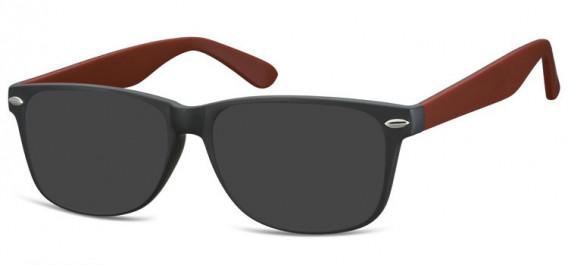 SFE-10569 sunglasses in Matt Black/Burgundy