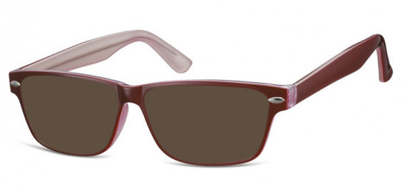 SFE-10568 sunglasses in Red/Clear