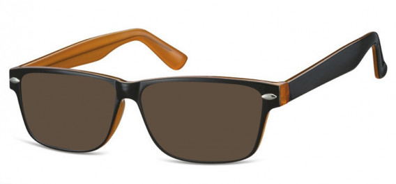 SFE-10568 sunglasses in Black/Honey