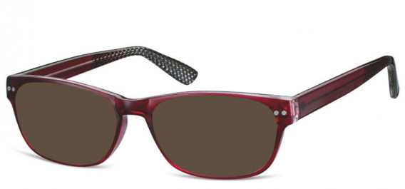 SFE-10567 sunglasses in Burgundy/Clear