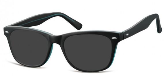 SFE-10566 sunglasses in Matt Black/Blue