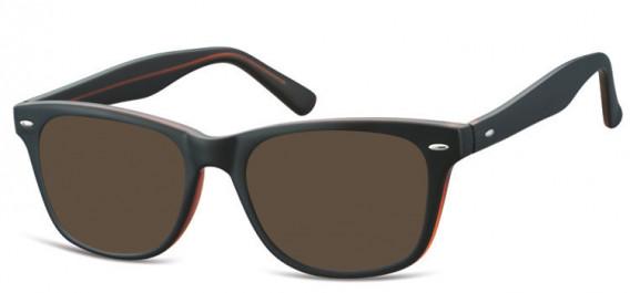 SFE-10566 sunglasses in Black/Brown