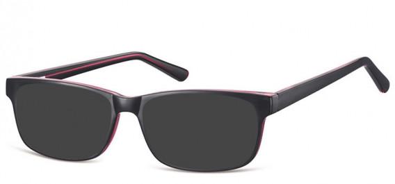 SFE-10558 sunglasses in Black/Purple