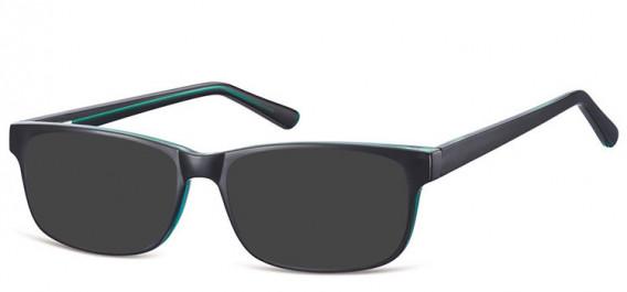 SFE-10558 sunglasses in Black/Green