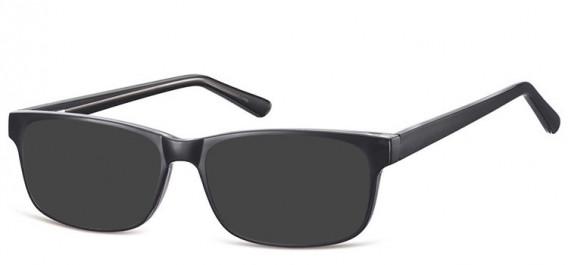 SFE-10558 sunglasses in Black/Transparent