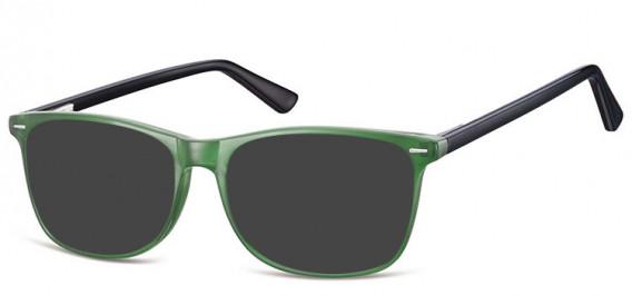 SFE-10557 sunglasses in Black/Green