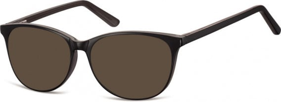 SFE-10556 sunglasses in Black/Dark Grey