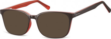 SFE-10555 sunglasses in Brown/Dark Pink