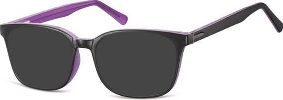 SFE-10555 sunglasses in Black/Purple