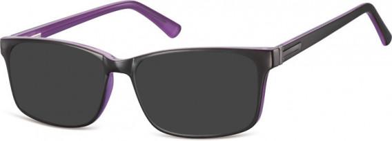 SFE-10554 sunglasses in Black/Purple