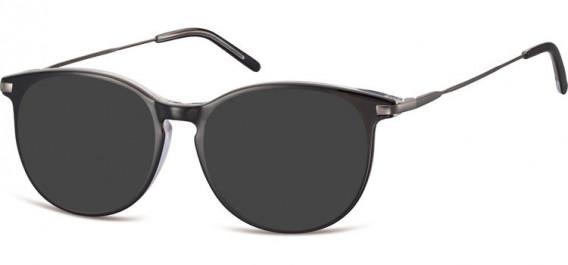 SFE-10553 sunglasses in Black/Clear