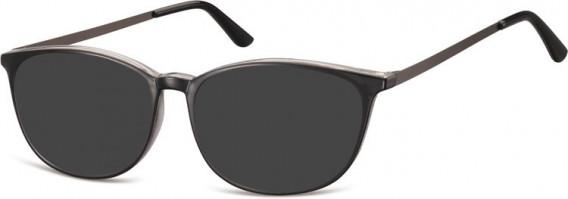 SFE-10549 sunglasses in Black/Clear