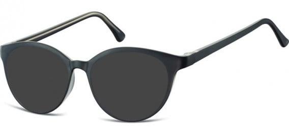 SFE-10546 sunglasses in Black/Clear