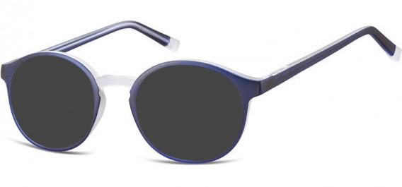 SFE-10544 sunglasses in Dark Blue/Transparent