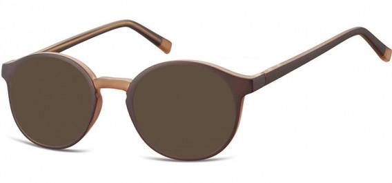 SFE-10544 sunglasses in Dark Brown/Light Brown