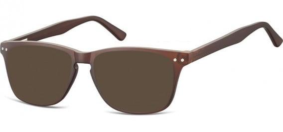 SFE-10543 sunglasses in Dark Clear Brown